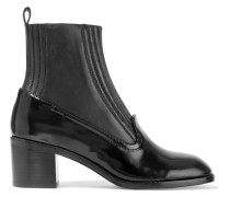 Martaa Smooth And Glossed-leather Boots Schwarz