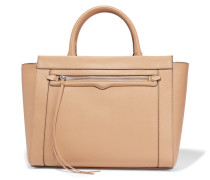Monroe Small Textured-leather Tote Sand