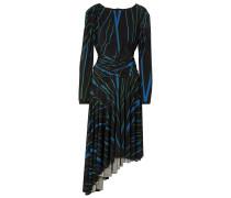 Melissa Asymmetric Striped Stretch-crepe Dress