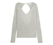Cutout Cashmere Sweater Grau