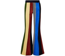 Paneled Patchwork-effect Wool Flared Pants