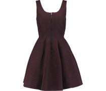 Mesh And Neoprene Mini Dress Burgunder