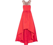 Embellished Satin-twill Gown Rot
