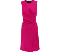 Andy Wrap-effect Jersey-knit Dress Magenta