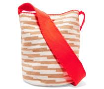 Lilla Woven Cotton Shoulder Bag Braun