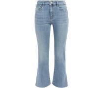 Le Crop Mini Boot Faded High-rise Kick-flare Jeans