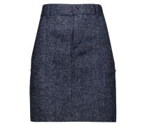 Denim-tweed Mini Skirt Dunkler Denim