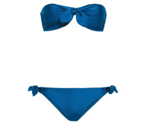 Allia Tie Bandeau-bikini in Metallic-optik mit Knotendetail
