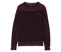 Slater Linen And Cotton-blend Sweater Burgunder