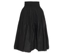 Flared Gathered Brocade Skirt