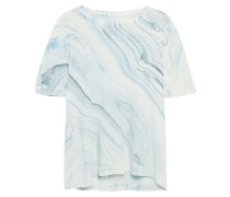 Printed Linen And Cotton-blend T-shirt