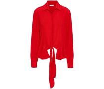 Two-tone Silk Crepe De Chine Shirt