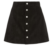 The Gove Suede Mini Skirt Schwarz