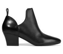 Taylor Leather Ankle Boots Schwarz