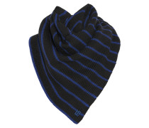 Eva Striped Wool Scarf Schwarz