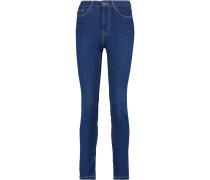 High-rise Skinny Jeans Mittelblauer Denim