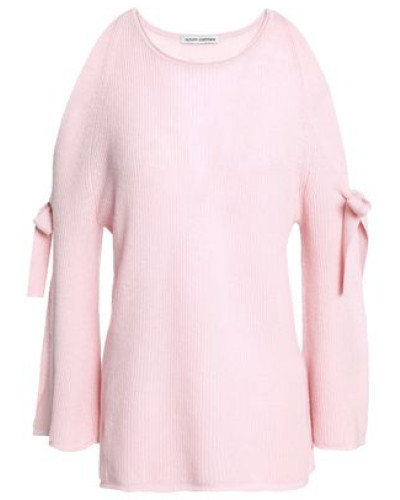 Bow-detailed Cashmere Sweater Baby Pink