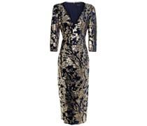 Sequin-embellished Velvet Midi Dress