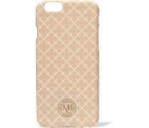 Coral Printed Plastic Iphone Case Creme