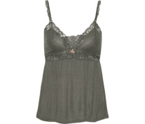 Francine lace-trimmed jersey camisole