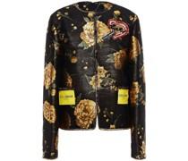Embellished Appliquéd Metallic Brocade Jacket