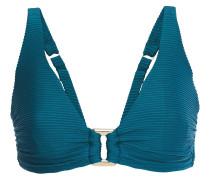 Embellished Ribbed Bikini Top