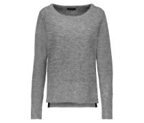 Bea Suede-paneled Alpaca-blend Sweater Grau