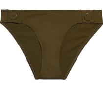 Pop Swell Button-detailed Low-rise Bikini Briefs