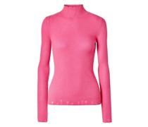 Distressed Cashmere Turtleneck Sweater