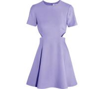 Leonie cutout stretch-piqué mini dress