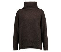 Knitted Turtleneck Sweater Dunkelbraun