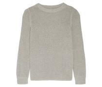 Cotton-blend Sweater Hellgrau