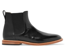 Troy Patent-leather Ankle Boots Schwarz