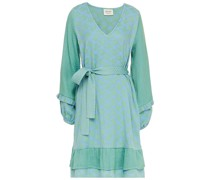 Liv Kleid aus Baumwoll-jacquard mit Rüschenbesatz und Gürtel