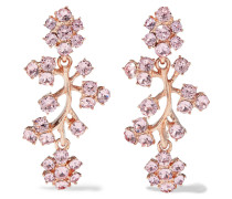 Rose Gold-tone Crystal Clip Earrings