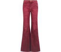 Girl Crush Corduroy Mid-rise Flared Jeans Burgunder