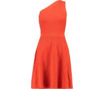 One-shoulder Stretch-knit Mini Dress Tomatenrot