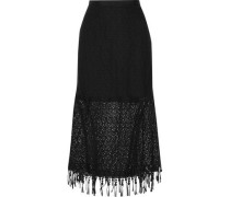Bibi embroidered guipure lace midi skirt