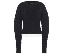 Cable-knit Merino Wool And Cotton-blend Sweater