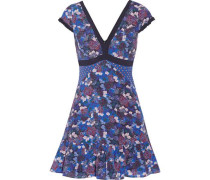 Avril printed silk-georgette mini dress