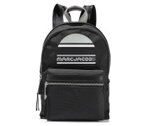 Woman Trek Embellished Leather-trimmed Shell Backpack Black