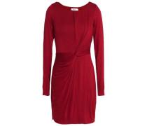 Twist-front stretch-jersey mini dress