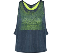Training layered cutout slub jersey and Dri-FIT stretch tank
