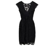 Pleated Chantilly Lace Mini Dress