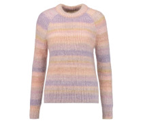 Striped Mohair And Silk-blend Sweater Puder