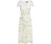 Wrap-effect Floral-print Crepon Dress