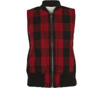 Plaid Wool-blend Vest Rot