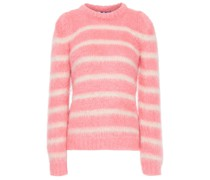 Striped Brushed Knitted Sweater