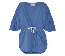 + Poppy Delevingne Cotton-chambray Tunic Blau