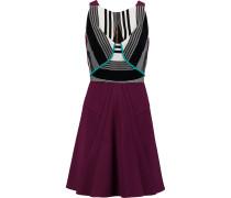 Derya Paneled Cady Mini Dress Burgunder